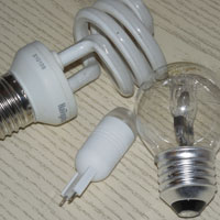 Галогенные и светодиодные лампы