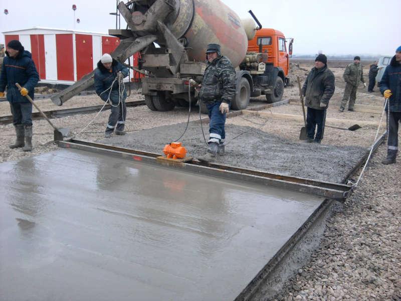 бетон на бетон на улице