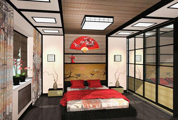 Изучаем спальню в японском стиле