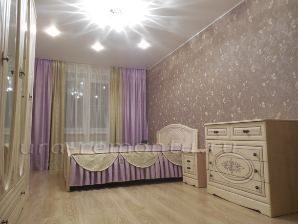 Красивая спальня своими руками на завершающей стадии