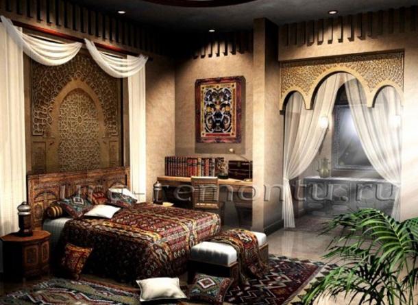 Подбираем текстиль для спальни в марокканском стиле