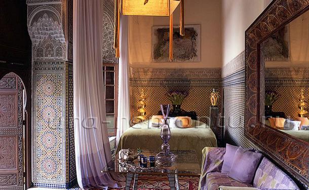 Отделка спальни в марокканском стиле