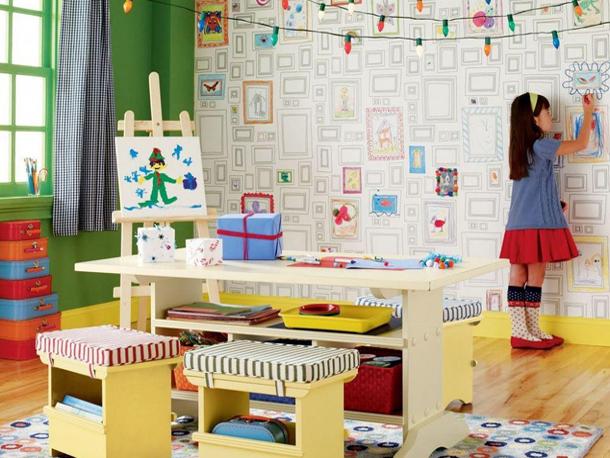 Как выбрать обои раскраски для детской комнаты
