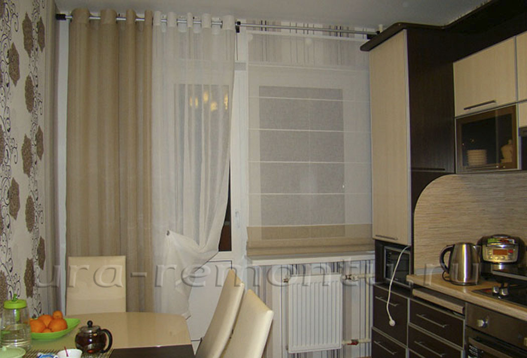 мойкой у в шторы окна фото кухне с