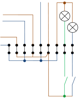 Электрическая схема распределительной коробки