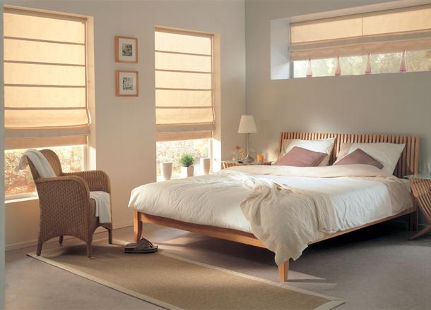 Как подобрать шторы для спальни в стиле минимализм