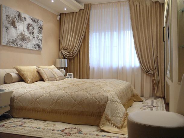 Как правильно подобрать шторы в спальню по цвету