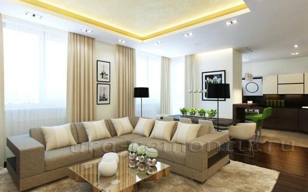 Правила оформления интерьера гостиной в светлых тонах