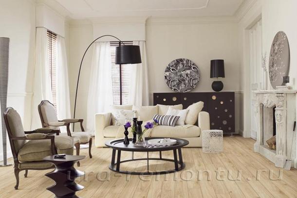 Фото интерьера светлой гостиной